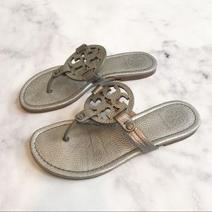 eeb6fb6ca4fa Tory Burch Shoes - Tory Burch Miller Pewter Metallic Sandals